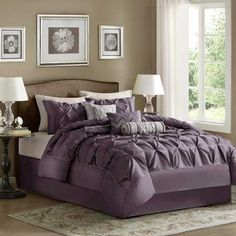 Madison Park Laurel Plum Bedding By Madison Park Bedding, Comforters, Comforter Sets, Duvets, Bedspreads, Quilts, Sheets, Pillows: The Home Decorating Company