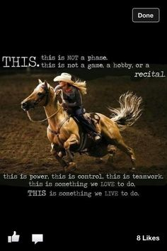 I know it's a barrel racer, but this is roping for me