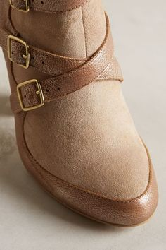 Miss Albright Crossed Suede Booties - anthropologie.com