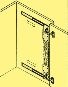 Thick Inset Pocket / Flipper Door Hinge Kit   Woodworking