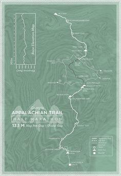 App trail race map - Abby Wilhelm Design