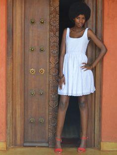Monica Dress #africa #dress #africanfashion #fashion #nairobi #africandress #kenya #whitedress http://njemahelena.tictail.com/product/monica-dress-white