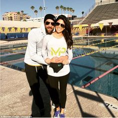 Phelps announced on Wednesday that he and girlfriend Nicole Johnson (above) were expecting their first child