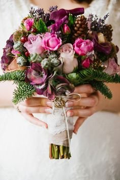 Flower Design Events: Exquisite Purple Late Autumn Wedding Day of Matthew & Lauren at Bartle Hall images by Tim Emmerton