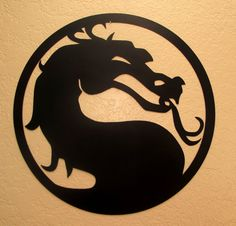 Mortal Kombat Dragon    This item is made of 20 gauge steel that is cut on a CNC plasma cutter and hand finished with flat black paint. Dimension
