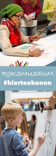 De nieuwe campagne The Big Draw met #hierteekenen van het @rijksmuseum  in Amsterdam nodigt uit om te tekenen in het museum in plaats van je smartphone te gebruiken. Love it! ♡ | Trendbubbles.nl