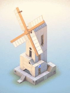 (GIF) Monument Valley by ustwo (iOS / Android). World-class gorgeous design, unique art direction, beatiful gameplay with a one-of-a-kind feel. Essential puzzle game for iPad.