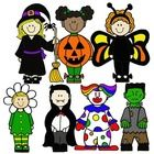 Half-off for the next 2 days only!  How cute are these Halloween kids?  Included in this graphic set are 14 PNG/Line Art images of kids in costumes...