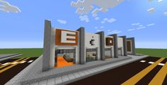 My attempt at making a Modern Mall in Minecraft Minecraft City, Minecraft Buildings, Minecraft Architecture, City Buildings, Mall, Houses, Community, Awesome, Places