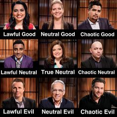 This Chopped Judges Alignment Chart: