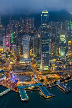 "heaven-ly-mind: ""Hong Kong - Line of Defense"" Nocturne, Hong Kong Night, Underwater City, Hongkong, City Wallpaper, City Scene, City Aesthetic, Dream City, City Landscape"