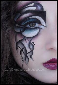 Amazing...eye makeup as art, truly.