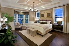 Traditional Master Bedroom with Wainscoting, High ceiling, Alexander English Iron Five-Light 26'' Wide Mini Chandelier