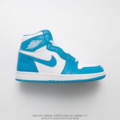 b6d3ea0c3eb $96.27 Nike Blue And White Basketball Shoes,088-117 FSR Mens Air Jordan 1