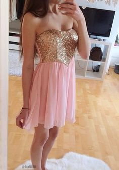 Sequins Bodice Dress