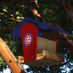 Chicago Cubs Wooden Bird Feeder Kit