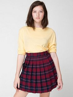 #store.americanapparel.ca #Skirt                    #American #Apparel #Plaid #Pleated #Schoolgirl #Skirt                         American Apparel - Plaid Pleated Schoolgirl Skirt                             http://www.seapai.com/product.aspx?PID=716838