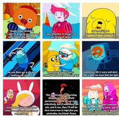 Adventure Time Quotes. honestly adventure time is where I learn most of my stuff