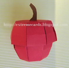 Apple Box with Lid - PAPER CRAFTS, SCRAPBOOKING & ATCs (ARTIST TRADING CARDS)