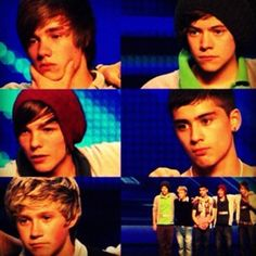 when they were being put together as a group as one direction