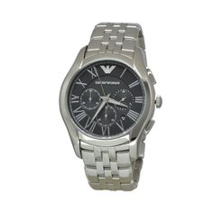 NEW Emporio Armani Men Luxury Watch AR1786 Silver Chronograph Stainless Steel #EmporioArmani #Casual