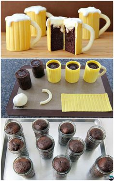 DIY Bear Mug Most Surprising Cupcake Decoration Ideas and Recipes Desserts 50 Most Creative Cupcake Ideas to Surprise Any Dessert Lover Mug Cupcake, Cupcake Wars, Edible Cupcake Toppers, Cupcake Recipes, Dessert Recipes, Dessert Ideas, Dessert Decoration, Kreative Desserts, Canned Frosting