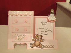 Side step baby dresser card
