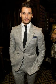 Style Watch: David Gandy at London Collections: Men image David Gandy Tommy Hilfiger
