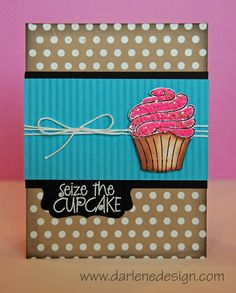 Wednesday's Card: Festive Cupcake