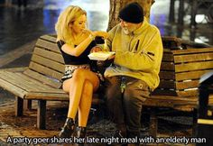 Faith In Humanity Restored - 15 Pics Kinds Of People, Good People, Amazing People, We Are The World, Change The World, Elderly Man, Homeless Man, Human Kindness, Sweet Stories