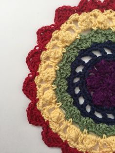 Special Anonymous Crochet Mandalas For Marinke (red)