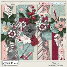 She Is.. - Border Clusters  from Designs by Connie Prince