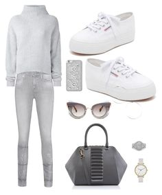 """Untitled #11"" by grace-agro on Polyvore featuring Kristina George, True Religion, Le Kasha, Superga, Skagen, MICHAEL Michael Kors and Miu Miu"