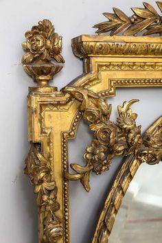 19th Century Louis XVI Style Gold Gilt Mirror image 6