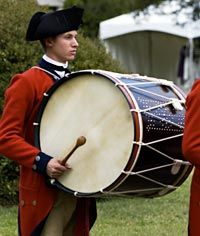 Bass Drum-By the early 19th-century, the bass drum was a standard part of America's military music.