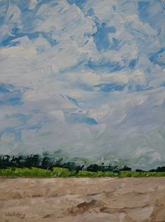 Original Oil Painting- Abstract Landscape- Nantucket.