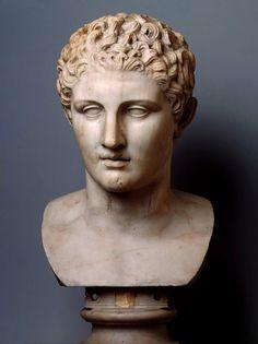 hadrian6:  Head of an Athlete. 1st.century. Roman copy of a Greek original. marble. Hermitage Museum.