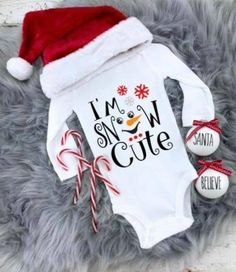 Baby's First Christmas Outfit, Girls Christmas Outfits, Babies First Christmas, Christmas Christmas, Kids Christmas Clothes, Christmas Presents, Christmas Shirts For Kids, Christmas Clothing, Holiday Outfits