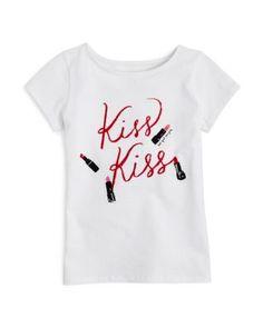 kate spade new york Girls' Kiss Kiss Tee - Sizes 7-14 | Bloomingdale's