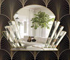 Venus Art Deco Fan Over Mantle Wall Mirror - Venus Art Deco Fan Over Mantle Wall Mirror The Venus Art Deco Mirror is a quality, handmade British mirror. Designed by Phillip Orr and handmade in our Norfolk Workshop. Art Deco Room, Art Deco Living Room, Art Deco Bathroom, Art Deco Decor, Art Deco Mirror, Decoration, Art Deco Wall Art, Art Deco Bar, Estilo Art Deco