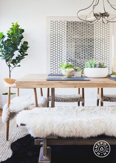 Furry details keep the room inviting and comfortable.