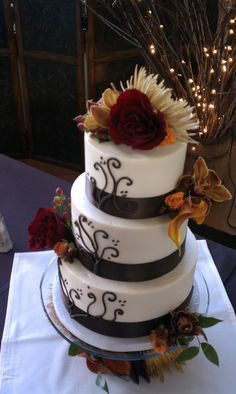 Fall Wedding Cake Fantasy Wedding, Fall Wedding, Dream Wedding, Tall Wedding Cakes, 2015 Wedding Trends, Wedding Stuff, Wedding Ideas, Anniversary Cakes, Fall Cakes
