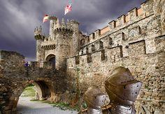 PONFERRADA (LEÓN) by castillerozaldívar  Ponferrada castle in one of our favorite wine regions, Bierzo is one of Spain´s few Templar castles. From July 1-4, the local town council organizes medieval Templar nights