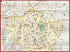 Подробная туристическая карта города Белу-Оризонти