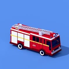 ArtStation - Low Poly fire machine, Vyacheslav Ledenev