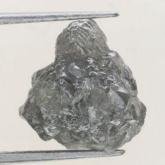 4.02 Ct Natural Loose Diamond Raw Rough Grayish Color Irregular Shape