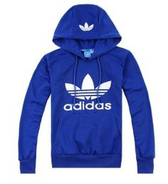 adidas hoodie blue white via Luxury store. Click on the image to see more!
