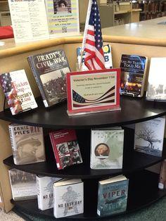 Veteran's Day display at Twinbrook library