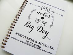 Wedding Notebook Little Notes For The Big Day Wedding Planning Notebook Personalized Notebook Wedding Planner Cute Notebook Bride Gift