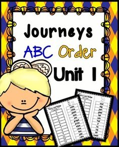 **Journeys Reading Second Grade ABC Order ~ Cut and Paste PrintablesIf you are interested in all 30 stories , you can save by clicking below:  ALL 30 STORIES JOURNEYS 2nd GRADE BUNDLE(If you have or plan on purchasing the centers and activities for each story, this is already included in that set.